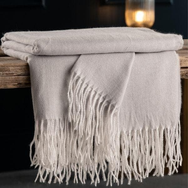 Pearl Grey Throw