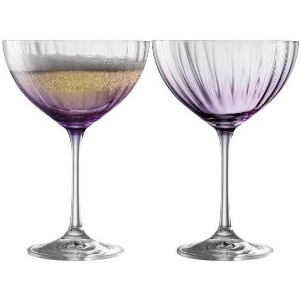 Erne Saucer Champagne Pair Amethyst