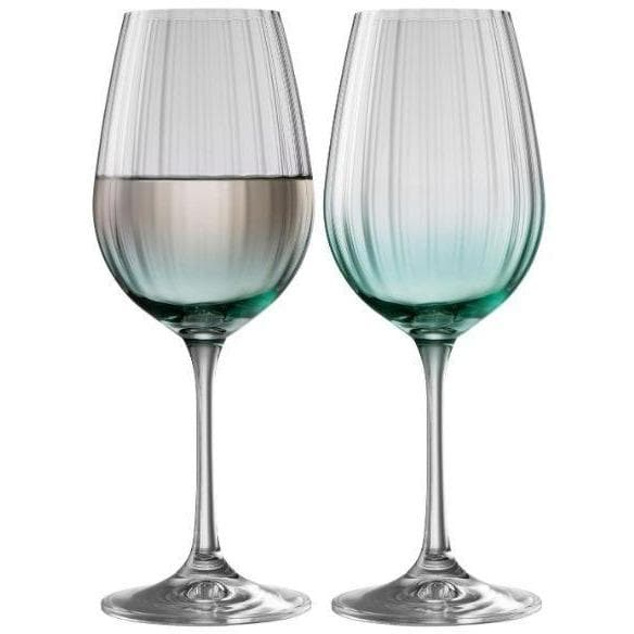 Erne Wine Glass Pair Aqua