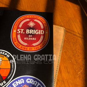 Saint Brigid of Kildare, Patron of Beer and Brewing, 4 inch sticker