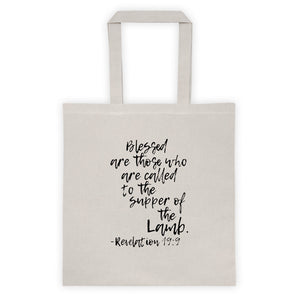 Revelation 19:9 Supper of the Lamb Tote Bag