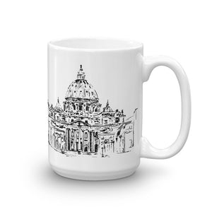 Saint Peter's Basilica in Rome 11 and 15 oz mug options | the Vatican | San Petro | Mug
