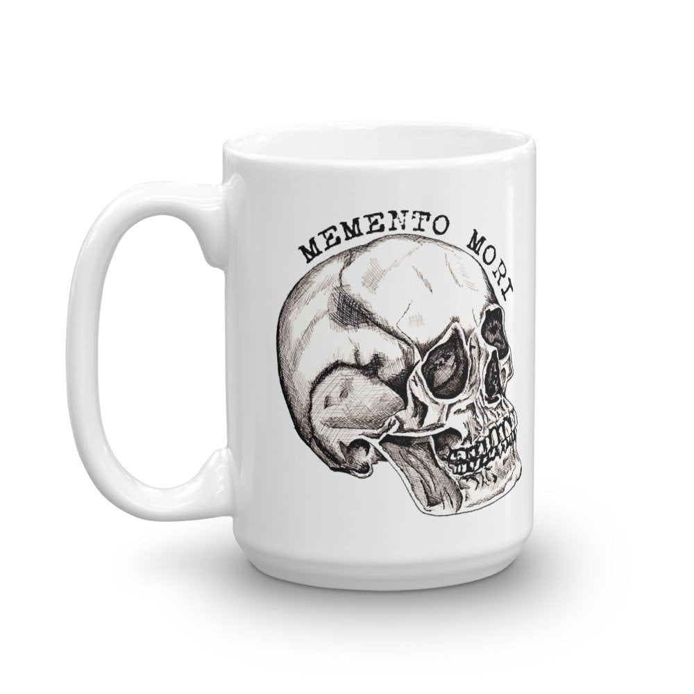 Memento Mori Skull, Remember Your Death, Coffee Tea Mug