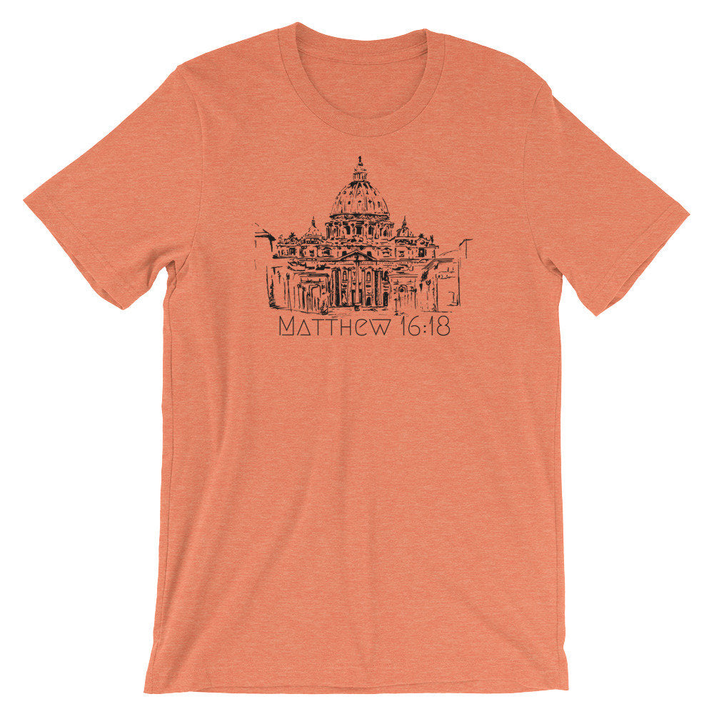 Matthew 16:18 verse with Saint Peter's Basilica | Catholic shirt |