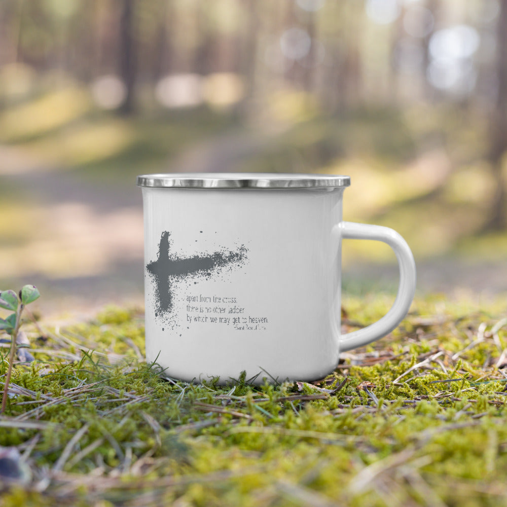 Apart from the Cross, St Rose of Lima quote Enamel Mug