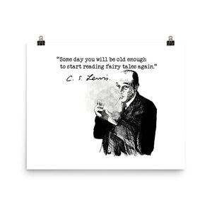 C.S. Lewis Quote, Some Day, Hand-Drawn Artwork Poster