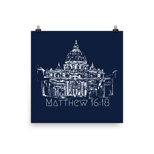 Saint Peter's Basilica, Matthew 16:18 Navy