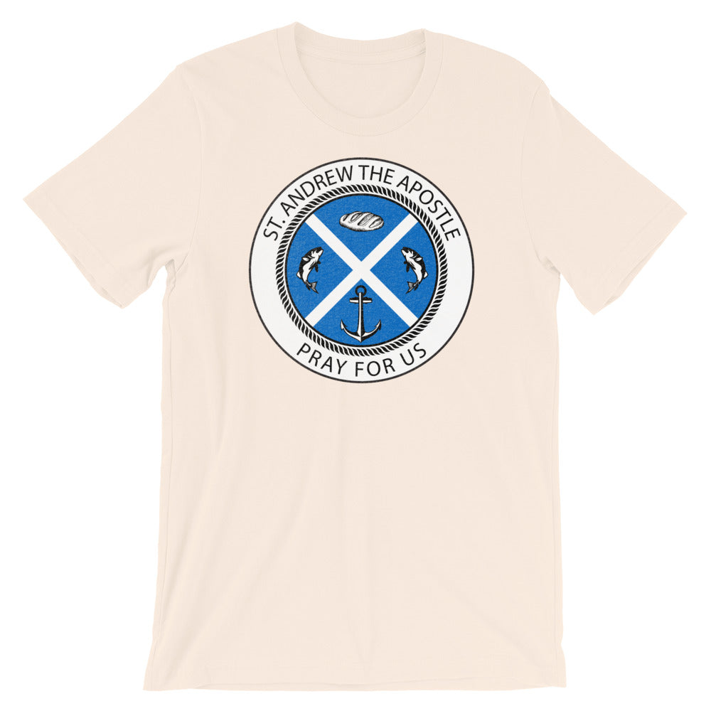 "Saint Andrew the Apostle ""logo Catholic Tee"