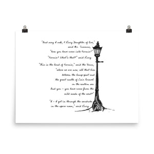 What Lucy Found There, Chronicles of Narnia, the Lion, the Witch, and the Wardrobe Lamp-Post Print Poster