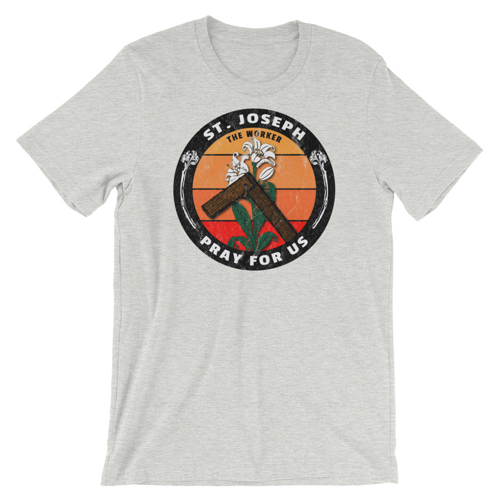 "Saint Joseph the Worker ""logo"" Catholic Tee"