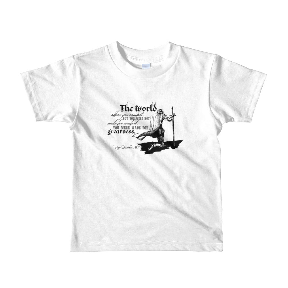 Made for Greatness Children's (Kneeling Knight) Shirt | Short sleeve kids t-shirt