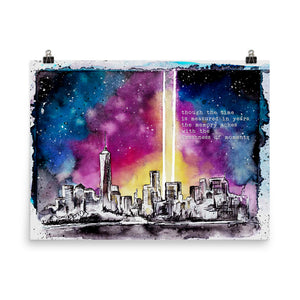 September 11th Remembrance Piece | Freshness of Moments Photo paper poster