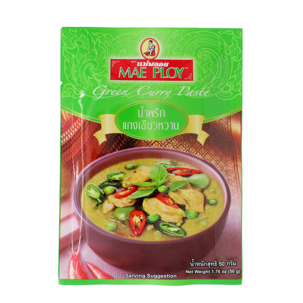 Mae Ploy - Thai Green Curry Paste 50g-LuckyCat