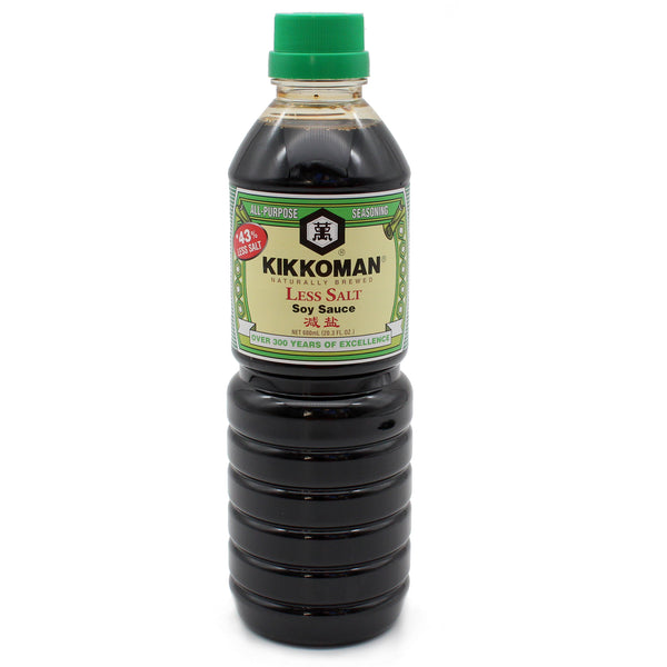 Kikkoman - Low Sodium Soy Sauce 600ml-LuckyCat