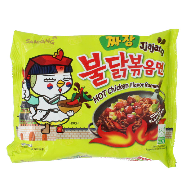 Samyang - Hot Chicken Flavour Ramen - Korean Black Bean Sauce 130g-LuckyCat