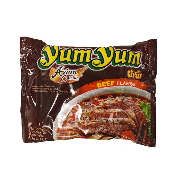 Yum Yum Instant Noodle - Beef Flavour 60g (buy any 3 get 1 free, use code YUMYUM at checkout)-LuckyCat