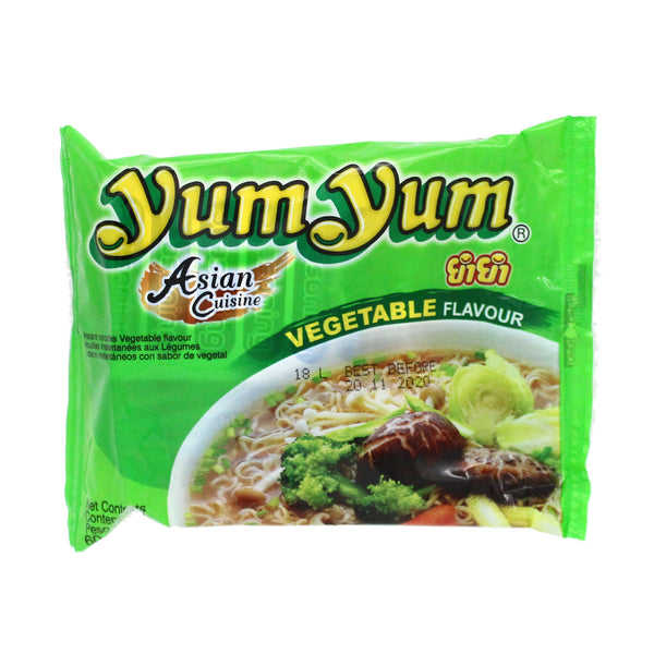 Yum Yum Instant Noodle - Vegetable Flavour 60g (buy any 3 get 1 free, use code YUMYUM at checkout)-LuckyCat
