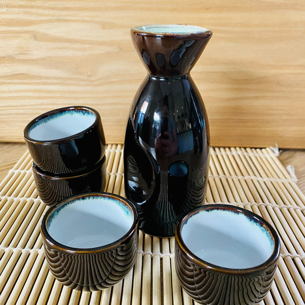 Sake Set Brown