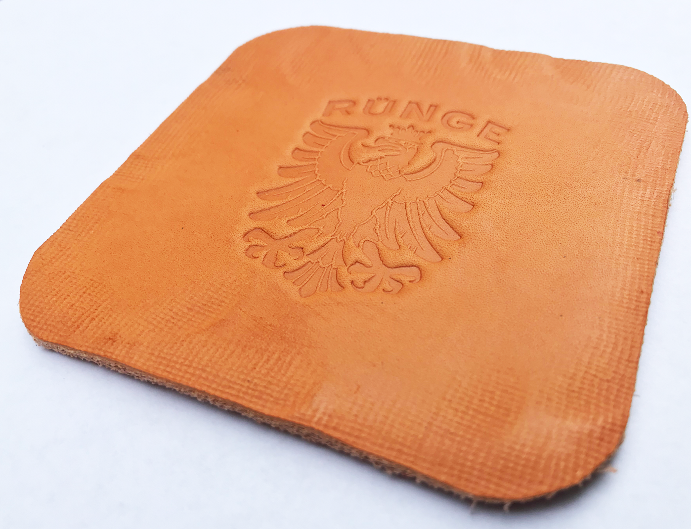 RÜNGE Crest Leather Coaster