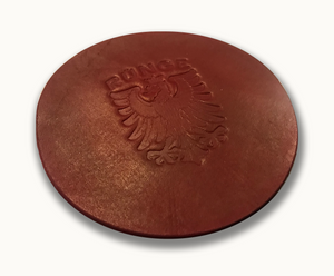RÜNGE Crest Round Leather Coaster