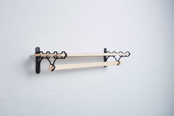 black_Victorian_Cast_Iron_Kitchen_Shelf_Rack_5_Lath_0.9M