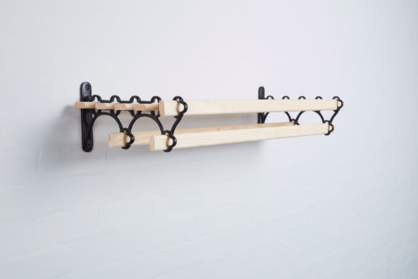 black_Victorian_Cast_Iron_Kitchen_Shelf_Rack_7_Lath_0.9M