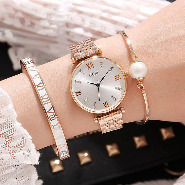 Luxury 3PC Set Women Bracelets Quartz Watch For Women , watch , Tofana , Tofana Fashion and Jewelry -  - Tofana online store