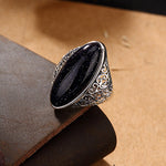 LUXURY Blue Sandstone Ring For Women , ring , Tofana , Tofana Fashion and Jewelry -  - Tofana online store