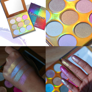 9 Colors Highlighter Palette