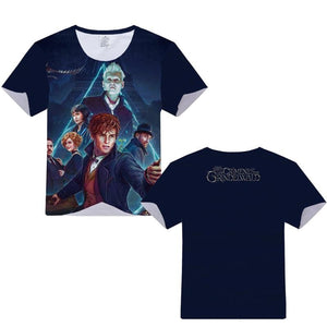 Fantastic Beats Newt Grindelwald Manches Courtes T-shirt pour Fans Harry Potter