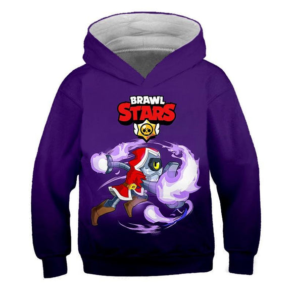 Yavoir Brawl Stars Red Wizard Barley Sweat à Capuche pour Enfant Pull