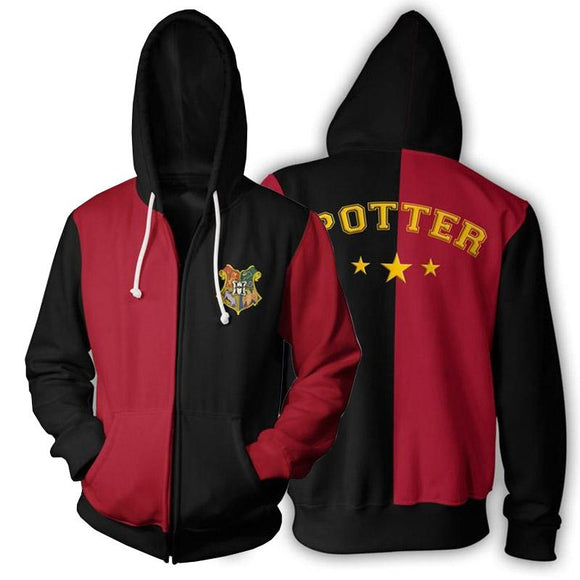 Yavoir Harry Potter Griffindor Pull Sweat-shirts à Capuche Adulte