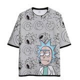 Yavoir Rick and Morty Tee Shirt T-shirt Manches Courtes Adolescents Adulte