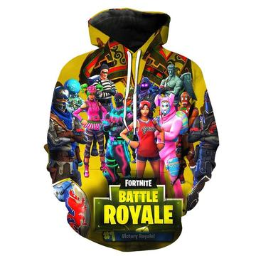 Yavoir Fortnite Battle Royale Triple Threat 3D Hoodie Pull Veste Sweat à Capuche