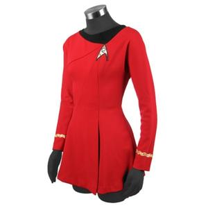 Yavoir Star Trek Uhura Cosplay Costume Rouge Robe Femme