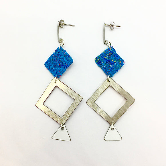 statement earrings - WOVEN ABSTRACT - diamond fabulous