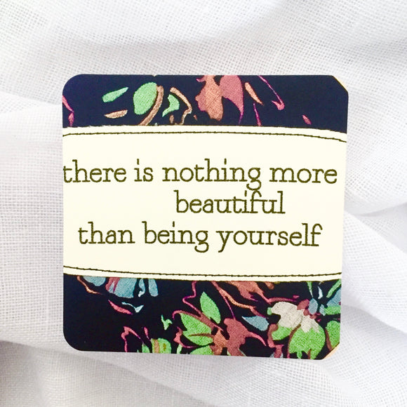 affirmation card . nothing more beautiful .