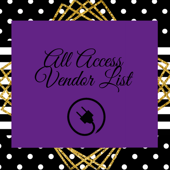 All Access Vendor List