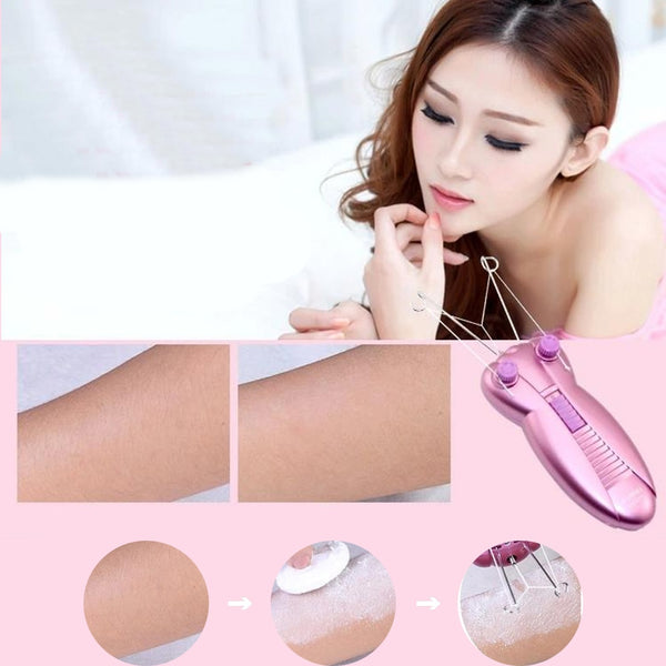 Electric painless body hair removal