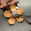 Leather Flower Necklace