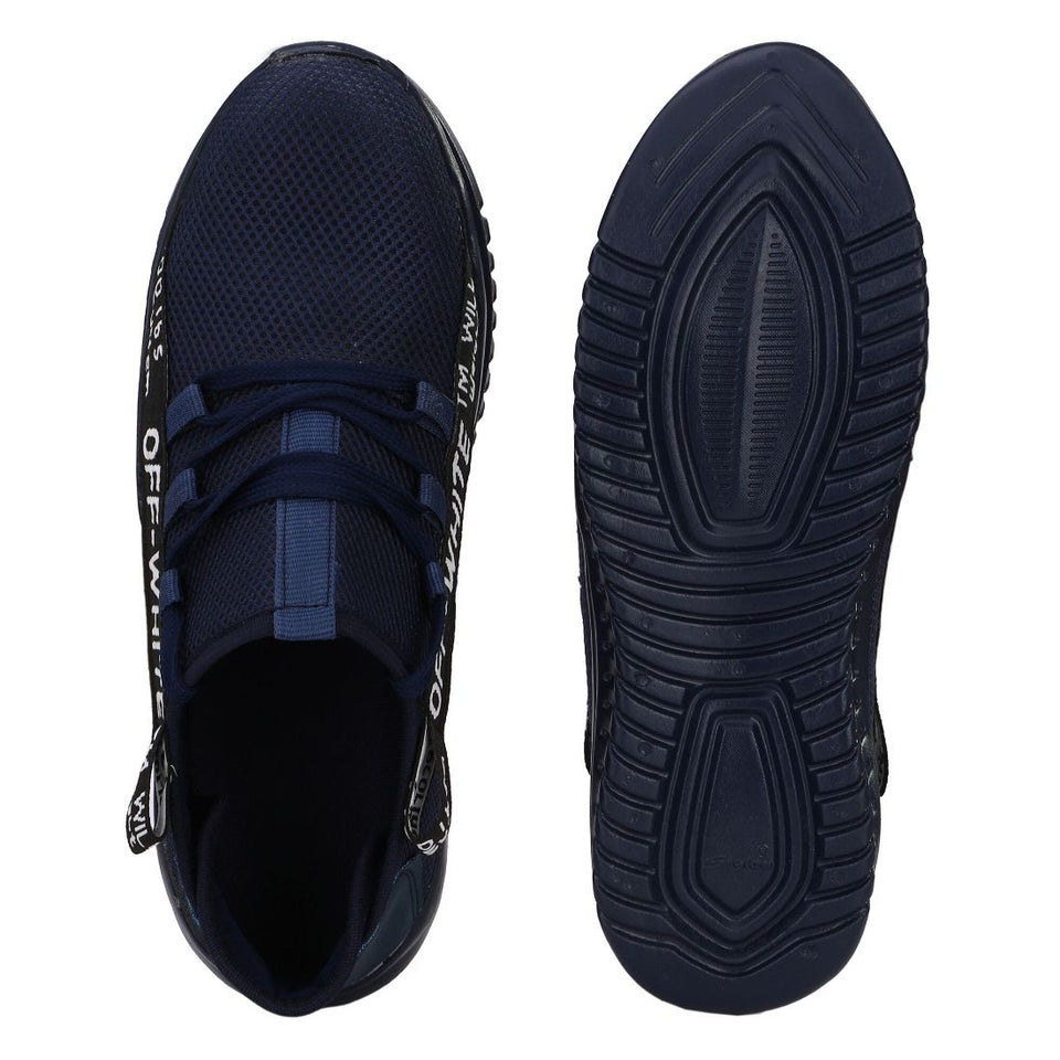 Generic Men Navy Blue Color Mesh Material  Casual
