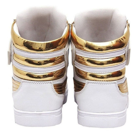Generic Men's White,Gold Color Synthetic Material - E.Y.U Store