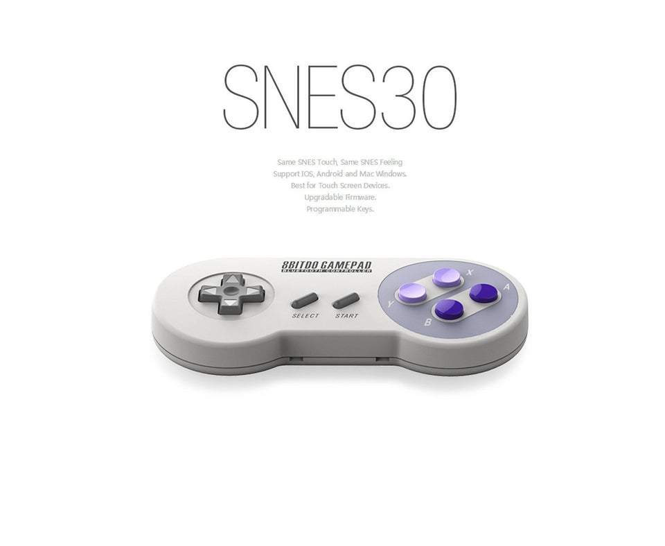 8 seat SNES30 wireless game controller (gray blue button) (SNES30)