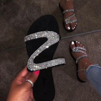 Sexy shiny Women's shoes fashion summer Flat sandals - E.Y.U Store