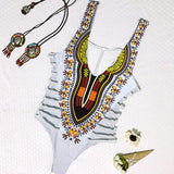 Women Dashiki African Printing Push-Up Padded Bra - E.Y.U Store