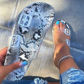 Snake Print Women's Sandals Women Summer Sexy Fashion Ladies Shoes - E.Y.U Store