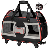 Katziela Wheeled Pet Carrier Luxury Rider