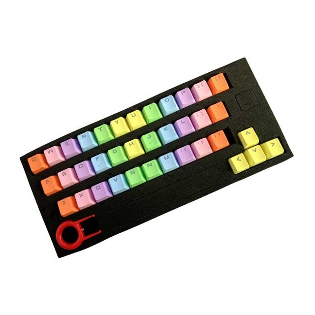 37 Key Mechanical Keyboard Gaming Practical Backlit Keycap Set PBT Replacement Colorful Fashion Translucidus Computer Accessory - E.Y.U Store
