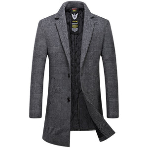 Overcoat High Quality Wool Trench Coat