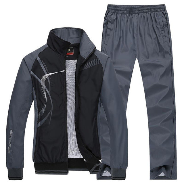Spring Autumn 2 Piece Sets Sports Men's Tracksuit